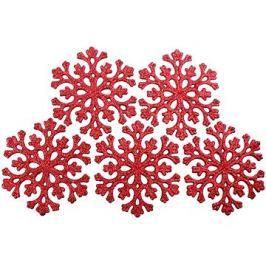 Sněhová vločka červená set 5 kusů