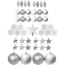 Set stříbrných ozdob 69 kusů
