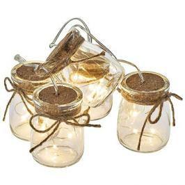 EMOS LED vánoční girlanda – 5× skleničky, 3×AA, teplá bílá, čas.