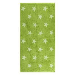JAHU Ručník Stars zelená, 50 x 100 cm