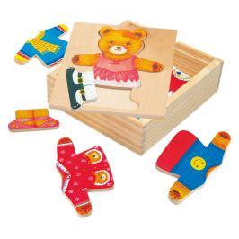 Bino Puzzle-šatní skříň-medvědice