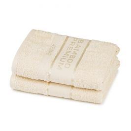 4Home Bamboo Premium ručník krémová, 50 x 100 cm, sada 2 ks