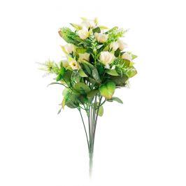 Umělá kytice Růže, béžová X184/krém