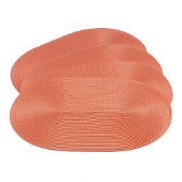 JAHU Prostírání Deco obál tmavě oranžová, 30 x 45 cm, sada 4 ks
