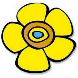 Bellatex Kuchyňská podložka Květina žlutá 10 cm