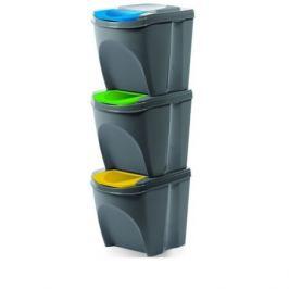 Koš na tříděný odpad Sortibox 25 l, 3 ks, šedá IKWB20S3405u