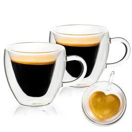 4home Termo sklenice Big Heart Hot&Cool, 250 ml, 2 ks
