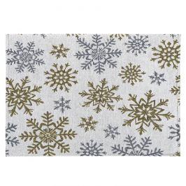 Dakls Prostírání Snowflakes bílá, 33 x 48 cm
