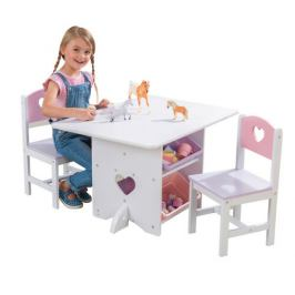 KidKraft stůl se židličkami Heart 26913