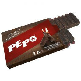 PE-PO Podpalovač 2v1 dřevo 20 podpalů