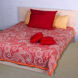 Night in Colours Přehoz na postel Sal červená/bílá