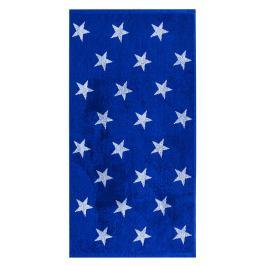 JAHU Ručník Stars modrá, 50 x 100 cm