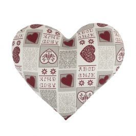 Bellatex Srdce bavlna Srdce vínové, 42 x 48 cm
