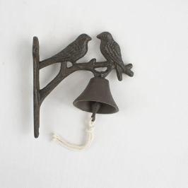 Litinový zvonek Ptáčci, 18,5 cm