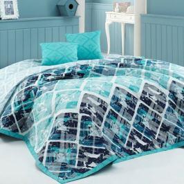 BedTex Přehoz na postel Riviéra tyrkysová, 220 x 240 cm, 2x 40 x 40 cm