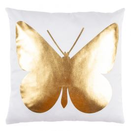 JAHU Polštářek Gold De Lux Motýl, 43 x 43 cm