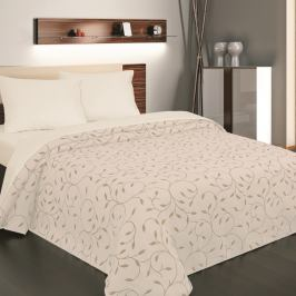 Forbyt Přehoz na postel Indiana béžová, 240 x 260 cm