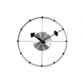 Nástěnné hodiny Lavvu Compass stříbrná, pr. 31 cm