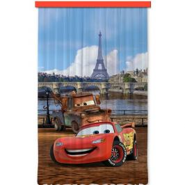 AG ART Dětský závěs Cars in Paris, 140 x 245 cm