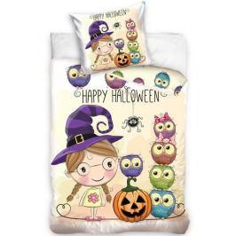 TipTrade Bavlněné povlečení Halloween Little Witch, 140 x 200 cm, 70 x 90 cm
