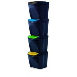 Koš na tříděný odpad Sortibox 25 l, 4 ks, antracit IKWB20S4 S433