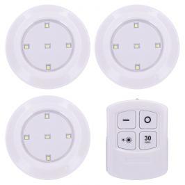 Solight WL906 Sada LED světélek na dálkové ovládání 3 ks, bílá
