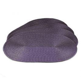 Jahu Prostírání Deco ovál fialová, sada 4 kusů, 30x45 cm