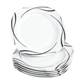 Domestic 6dílná sada mělkých talířů Oslo, 25 cm