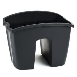 PROSPERPLAST truhlík balkonový CROWN 24x28x20 cm, tmavě šedá