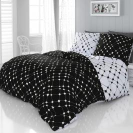 Kvalitex Saténové povlečení Infinity černobílá, 200 x 200 cm, 2 ks 70 x 90 cm