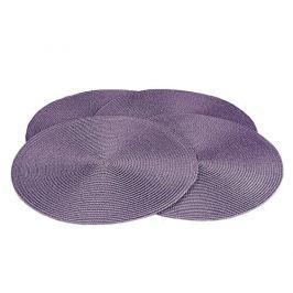 Jahu Prostírání Deco kulaté fialová, sada 4 kusů, 35 cm