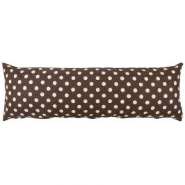 4Home Povlak na Relaxační polštář Náhradní manžel Puntík Čokoláda, 50 x 150 cm