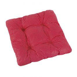 Bellatex Sedák Adéla prošívaný Puntík červená, 40 x 40 cm