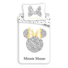 Jerry Fabrics Bavlněné povlečení Minnie Gold, 140 x 200 cm, 70 x 90 cm