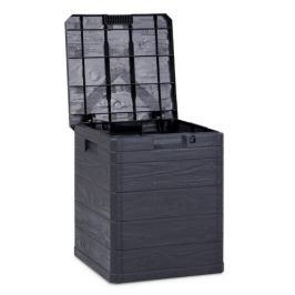 Úložný box na polstry Woody antracit, 90 l
