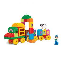 Baby Stavebnice Vlak s čísly, 63 ks