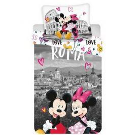 Jerry Fabrics Bavlněné povlečení Mickey and Minnie in Rome, 140 x 200 cm, 70 x 90 cm