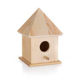 Dřevěná ptačí budka, 10,4 x 10,4 x 15,5 cm