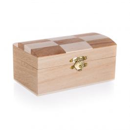 Dřevěná krabička Chess, 12 x 7 x 6 cm