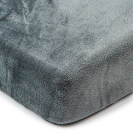 4Home Prostěradlo mikroflanel tmavě šedá, 160 x 200 cm