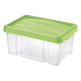 Tontarelli Úložný box s víkem Puzzle 5 l, transparentní/zelená