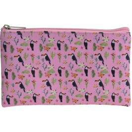 Kosmetická taštička Tropico růžová, 20 x 12 cm