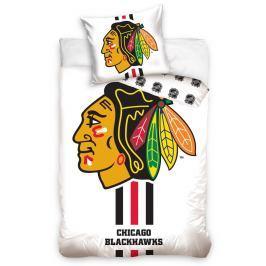 BedTex Bavlněné povlečení NHL Chicago Blackhawks White, 140 x 200 cm, 70 x 90 cm