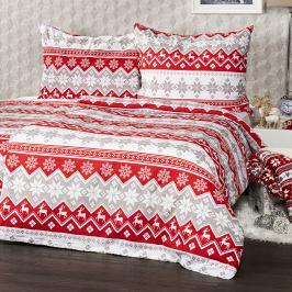 4Home Bavlněné povlečení Red Nordic, 160 x 200 cm, 70 x 80 cm