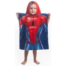 Jerry Fabrics Dětské pončo Spiderman blue, 50 x 115 cm