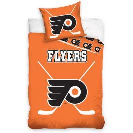 BedTex Bavlněné svíticí povlečení NHL Philadelphia Flyers, 140 x 200 cm, 70 x 90 cm