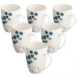 Altom Sada porcelánových hrnků Konfetti 340 ml, 6 ks, modrá