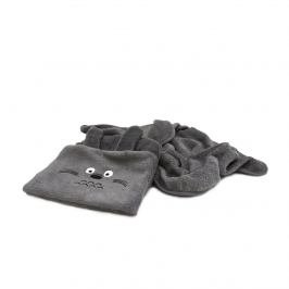 Domarex Dětská deka BEAR 2 v 1 šedá, 75 x 100 cm