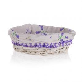 Home Decor Proutěný košík Lavender, 25 x 7 cm