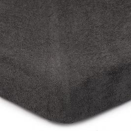 4Home Froté prostěradlo tmavě šedá, 160 x 200 cm